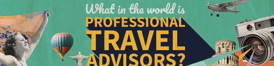 The picture asks, what in the world is Professional Travel Advisors?