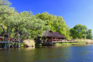 A riverside lodge in South Africa