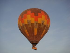 Ballooning over Namibia