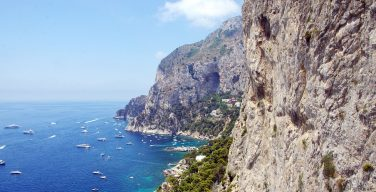 Cliffs along the coastline of Capri