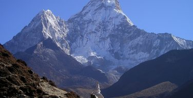 Mount Everest, the world's highest mountain, in Nepal