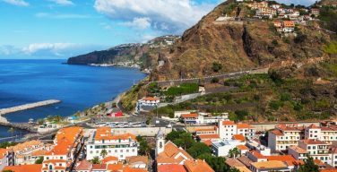 The coastline of Madeira