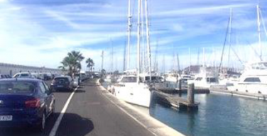Boats at harbour in Lanzarote