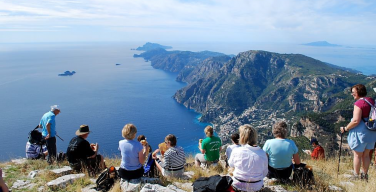 Sitting on the cliff tops of the Amalfi Coast