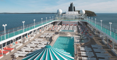 Pool deck on a Crystal Cruise