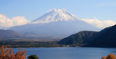 The snow-capped Mount Fuji