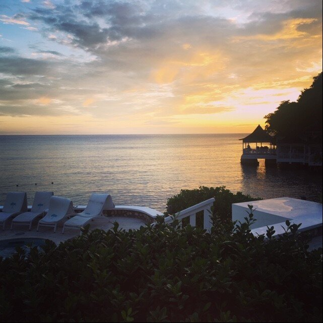 Sunset over Jamaica