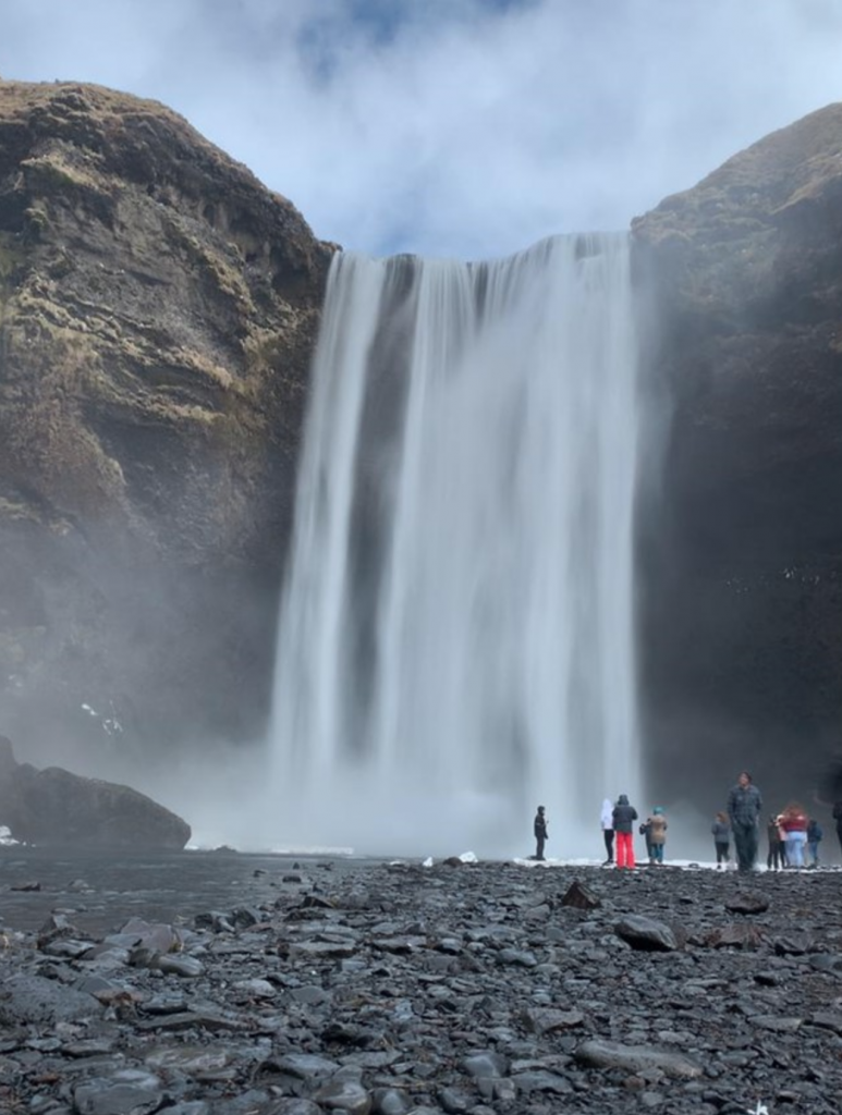 Up close and personal with an Icelandic waterfall