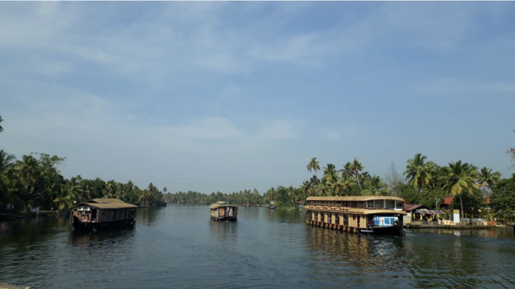 Kerala home to many backwaters and meandering canals