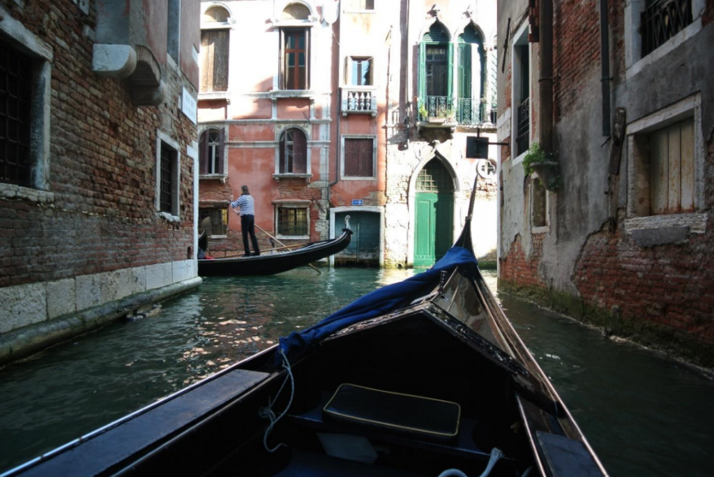Winding your way through the canals of Venice