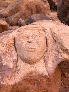 Relief of Lawrence of Arabia in the Wadi Rum